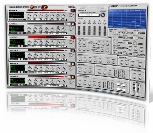 Supersynths SuperCore - world-class synths, virtual instruments and